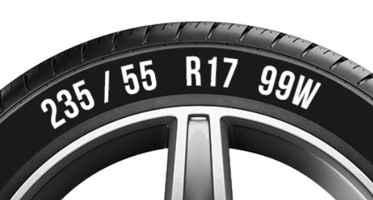 How to understand the tyre side wall data